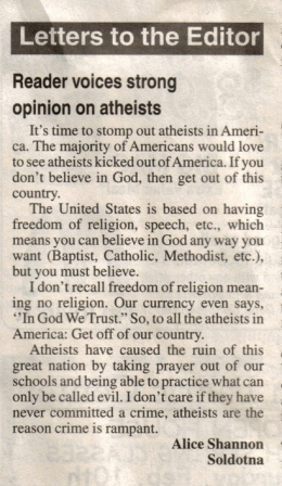 Atheists - From Dave